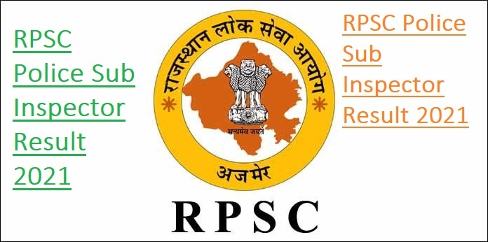 RPSC Police Sub Inspector Result 2021